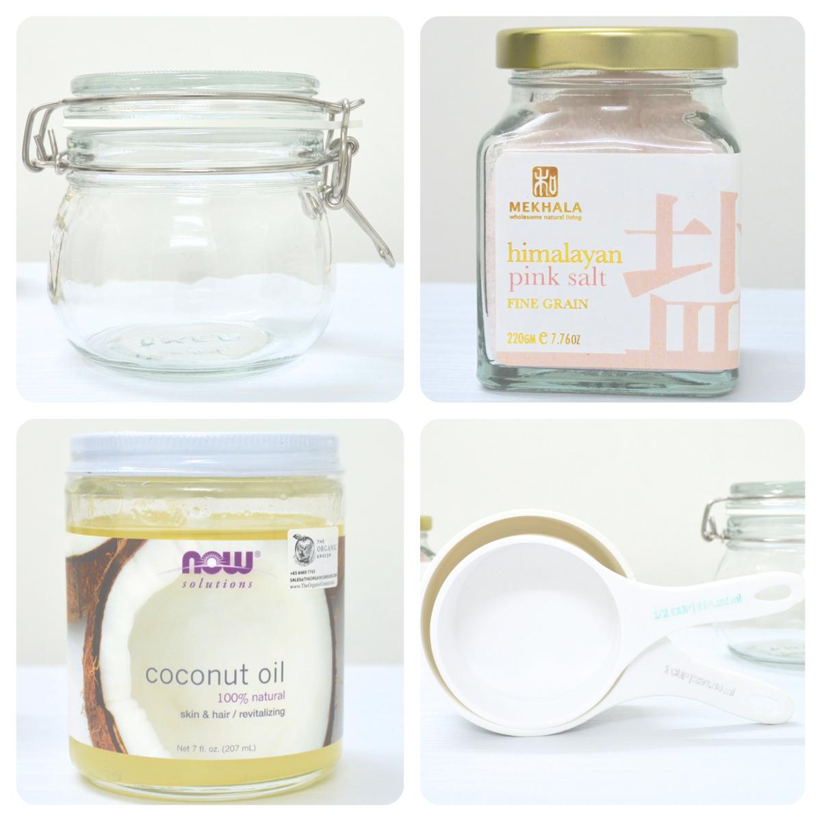 Salt and Coconut Oil Face Scrub Recipe