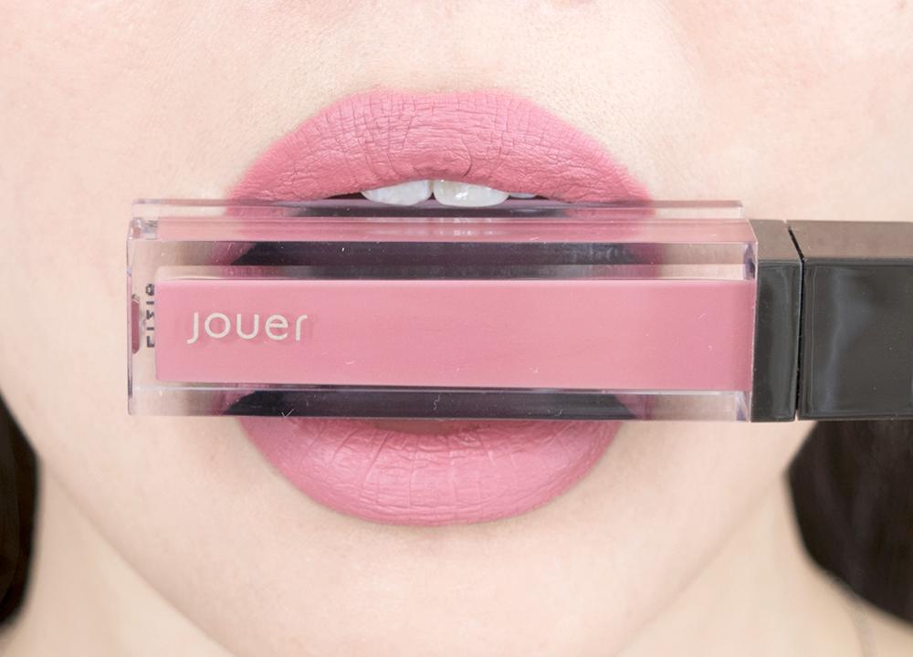 Jouer Cosmetics Long Wear Lip Creme Liquid Lipstick Lychee Swatch