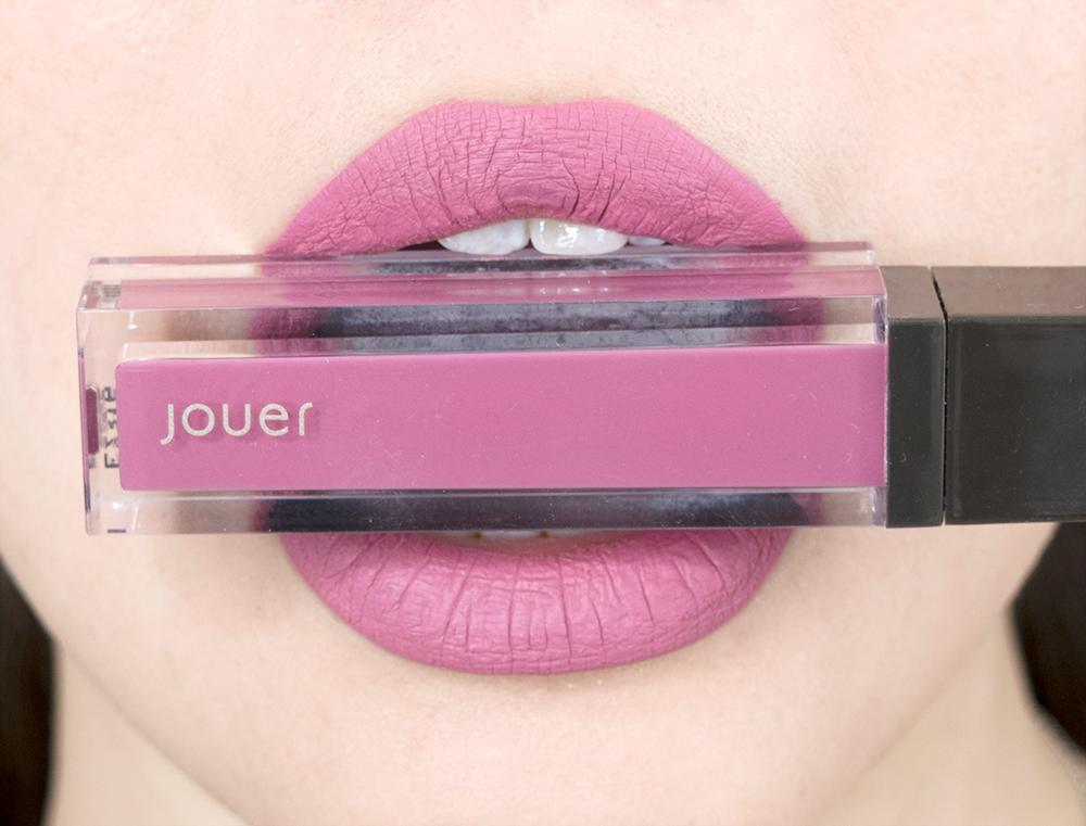 Jouer Cosmetics Long Wear Lip Creme Liquid Lipstick Cassis Swatch