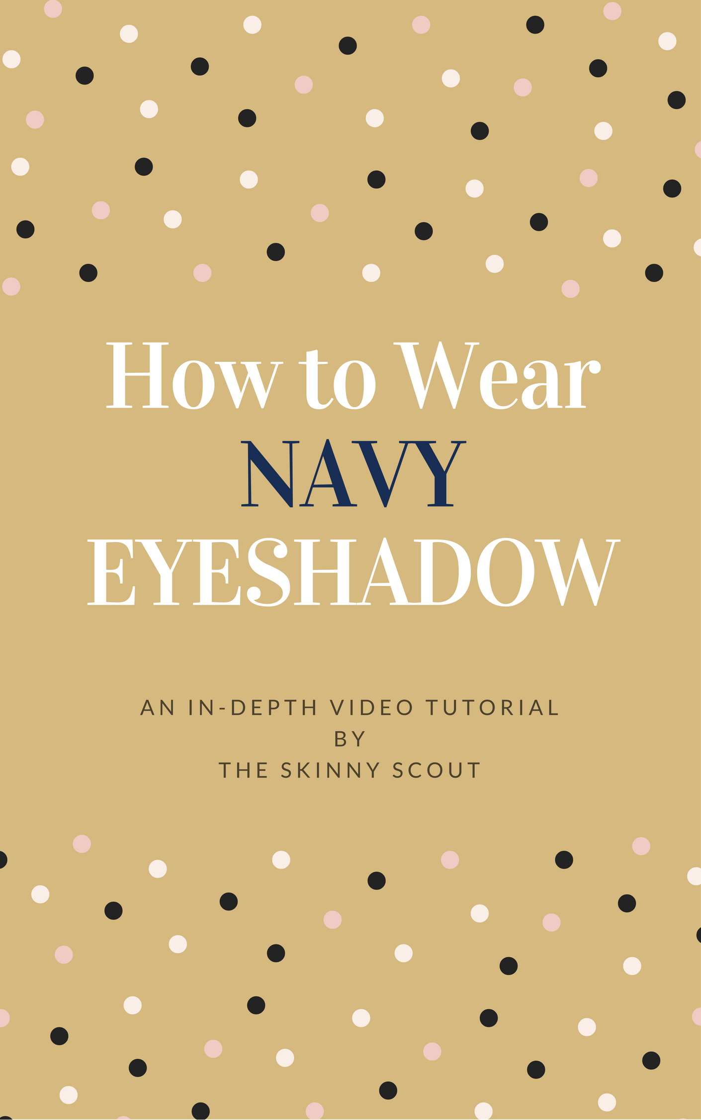 How to Apply Navy Eyeshadow