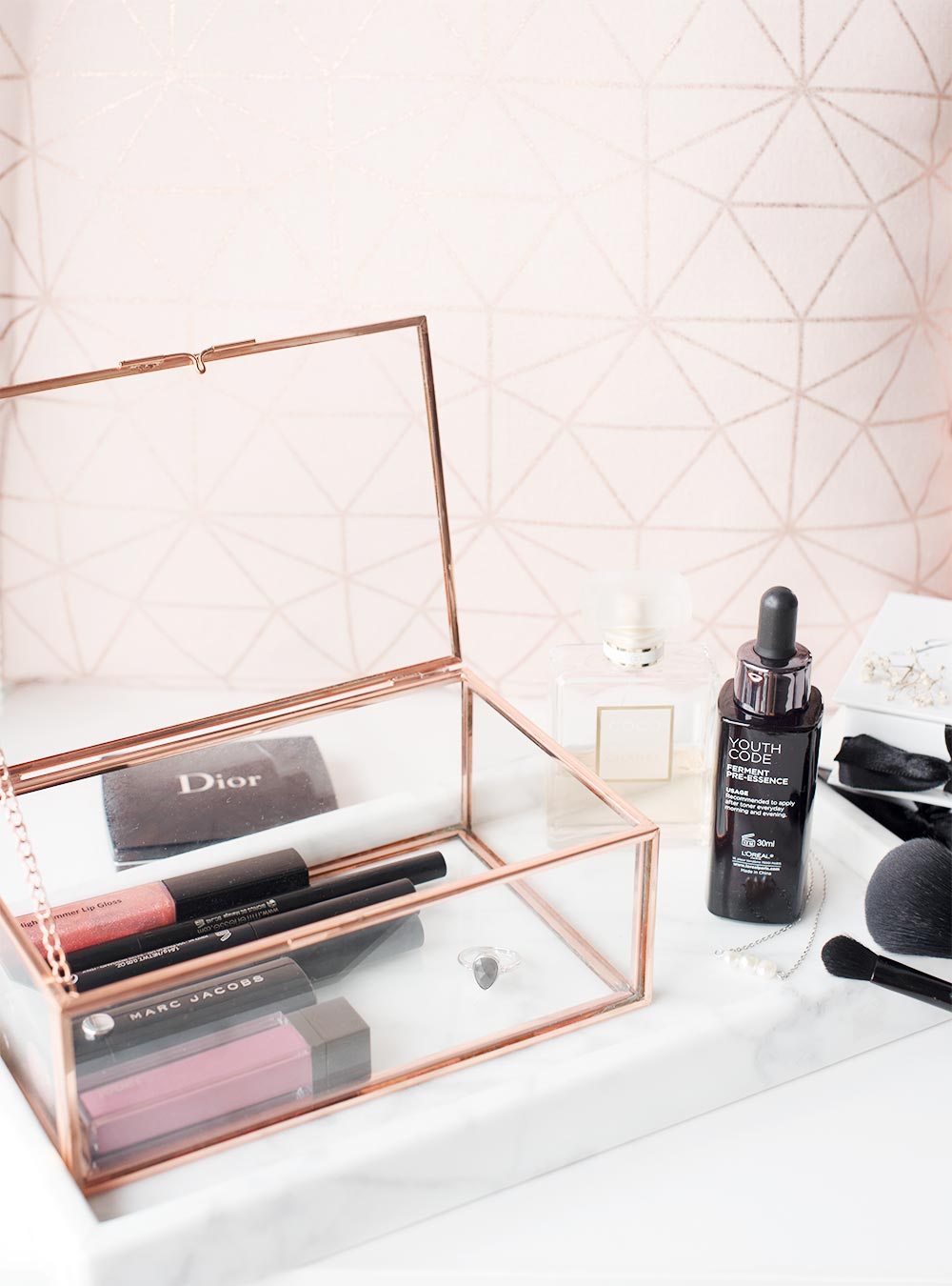 KonMari Method of Decluttering Your Makeup via The Skinny Scout