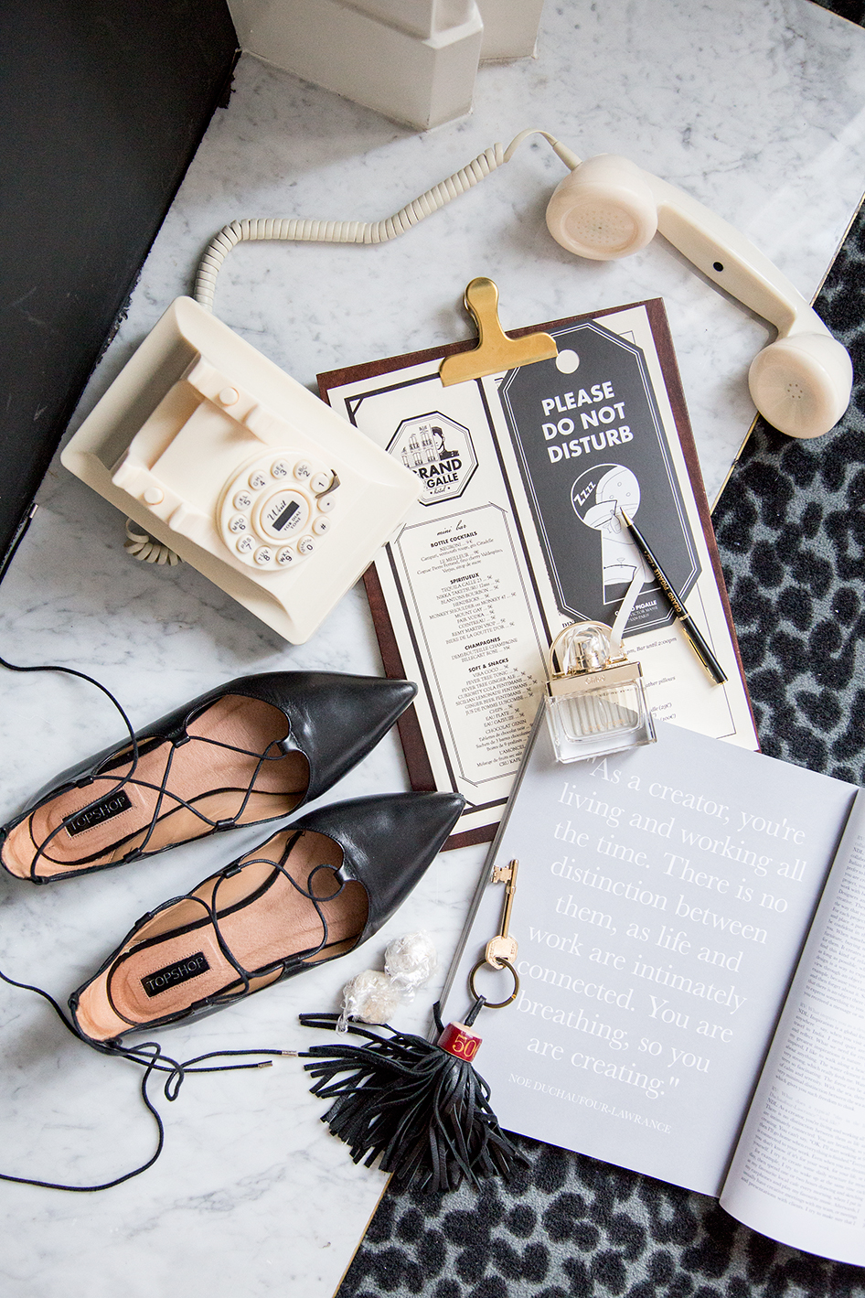 Le Grand Pigalle Paris Flatlay on The Skinny Scout