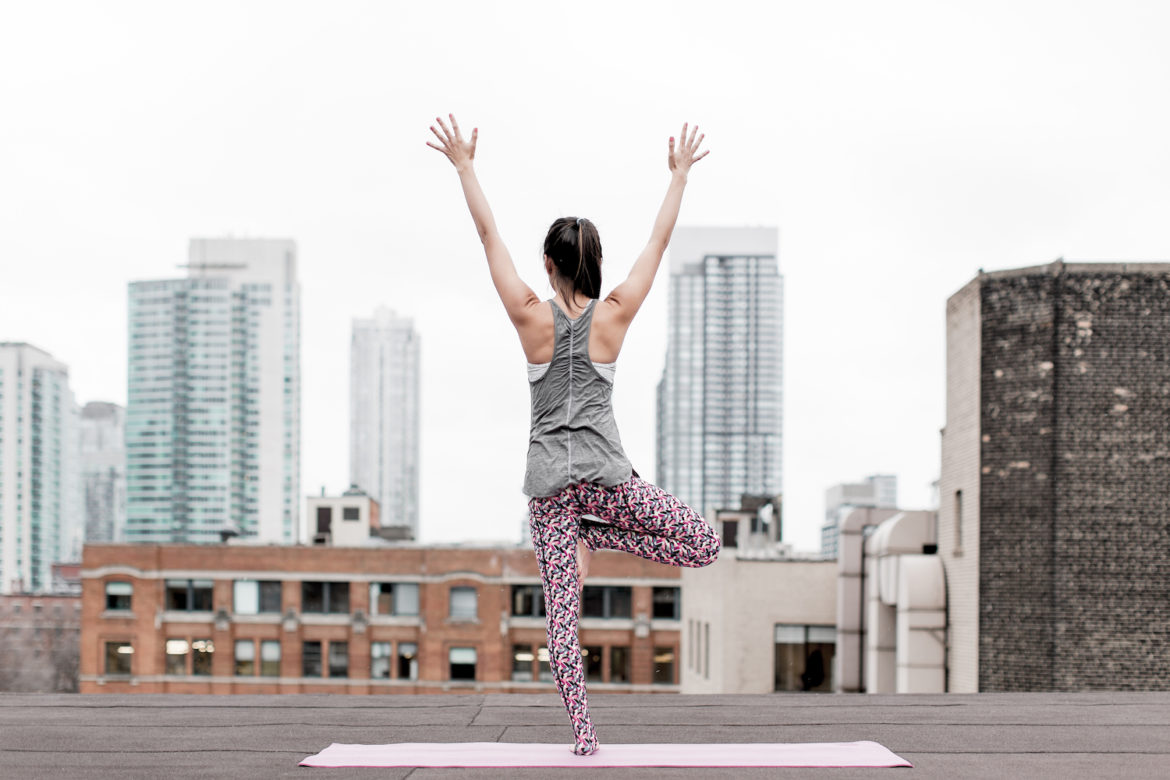 Rooftop Yoga via The Skinny Scout
