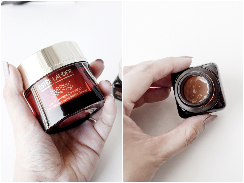 Estee Lauder Nutritious Vitality8 and Estee Lauder Advanced Night Repair Eye Collage