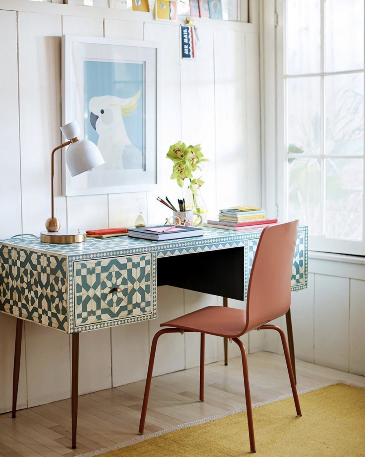 work from home via Anthropologie